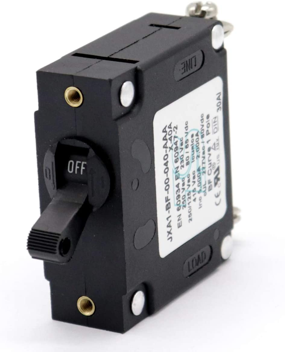 T Tocas 40A Toggle Single Pole Circuit Breakers Hydraulic Magnetic Circuit Protector AC or DC 80 V: Automotive