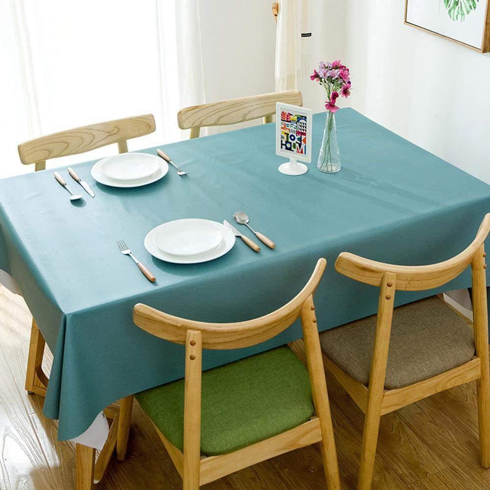 XixuanStore テーブルクロスソリッドカラーのテーブルクロス防水アンチホットアンチオイルポリ塩化ビニールのテーブルクロス長方形のテーブルコーヒーテーブルクロス (Color : A, サイズ : 1.37*2.75m) 1.37*2.75m A B07Q4CC5D5