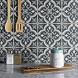 SomerTile FTC8BRBK Bracara Ceramic Floor and Wall