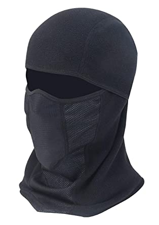 72a0324ec87f0 Image Unavailable. Image not available for. Color  Winter Face Mask Fleece  Windproof Mask Motorcycle Neck Warmer Ski Face Hat ...
