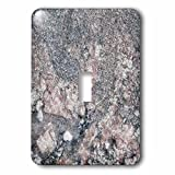3dRose Alexis Photography - Texture Stone - Image of polished decorative granite plate of grey and pink colors - Light Switch Covers - single toggle switch (lsp_285827_1)