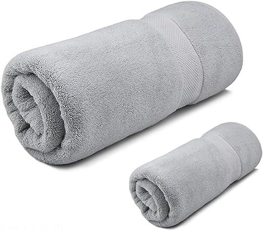 ZJPP Toallas de baño, 100% algodón Juego de Toallas de 3 Piezas, 1 ...