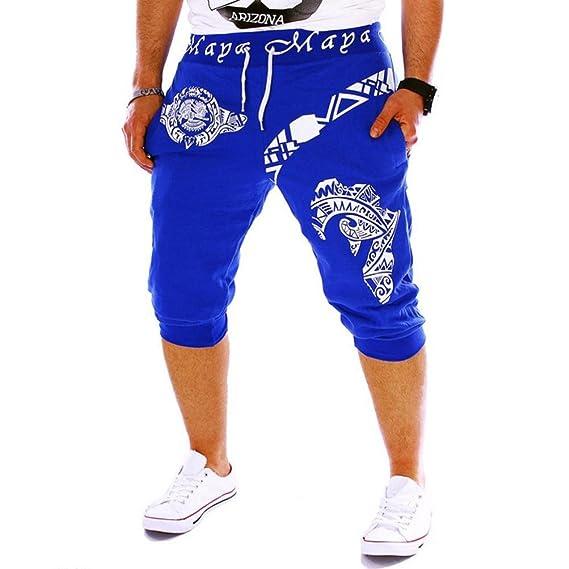 LAND-FOX Pantalones Cortos Deportivos para Hombre Pantalón para Hombre Casual Chino Jogging Algodón gM6hg