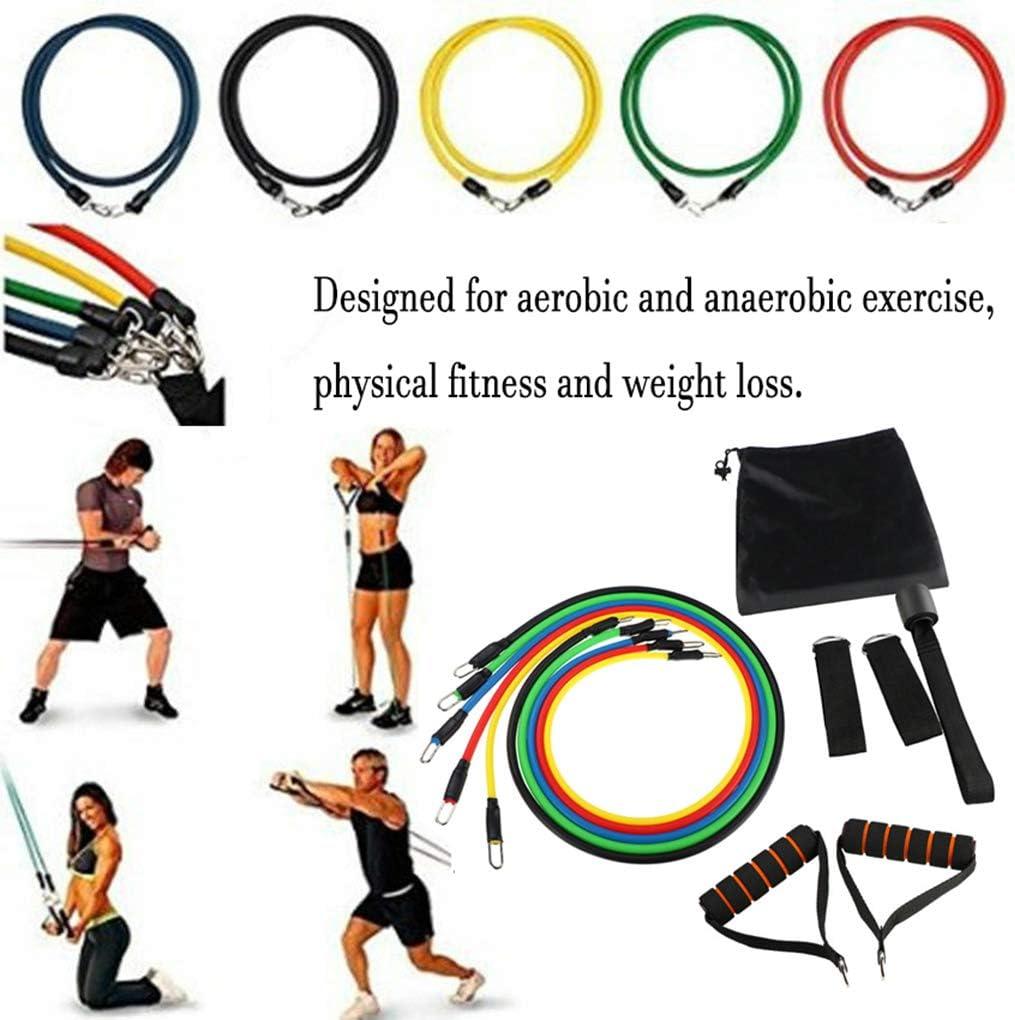 Fitness Tubos manijas de Puerta de Anclaje Correas del Tobillo Yoga Kit de Entrenamiento de Pilates Arichtop Bandas 11pcs Resistencia Serie de Ejercicios