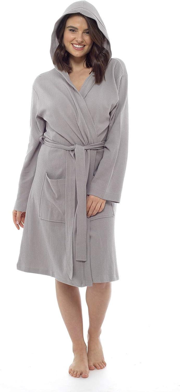 CityComfort Vestaglia in Puro Cotone Donna Waffle Kimono Vestaglia Leggera per Donna