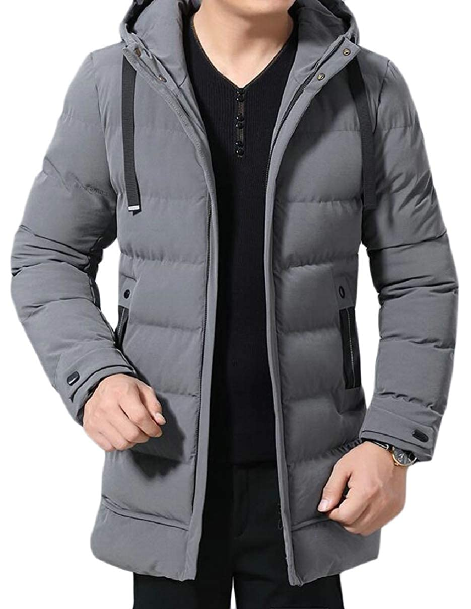 CBTLVSN Mens Winter Warm Hooded Thick Parka Padded Coat Quilted Jacket