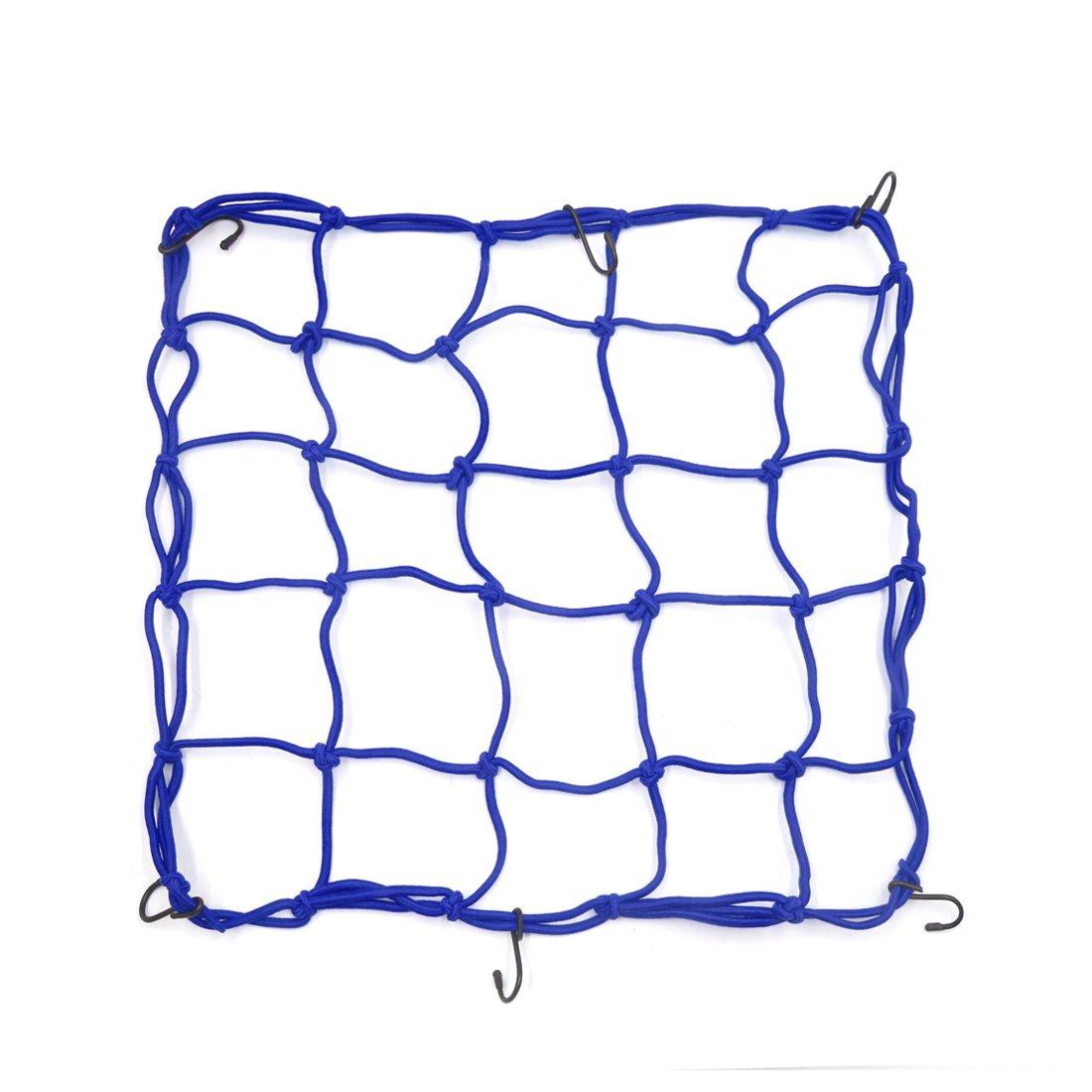 1 Stück 45x45 cm Blau Bungee Helm Cargo Gepäcknetz Waren Net für Auto Motorrad Sourcingmap a17051800ux0602