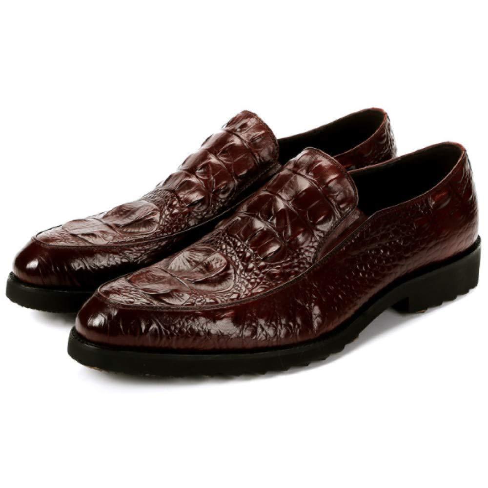 XDLJL Krokodil Muster Leder Herren Business Schuhe Cross Schuhes Border Kleid Schuhe Fahren Schuhes Cross ROTwine c9a591