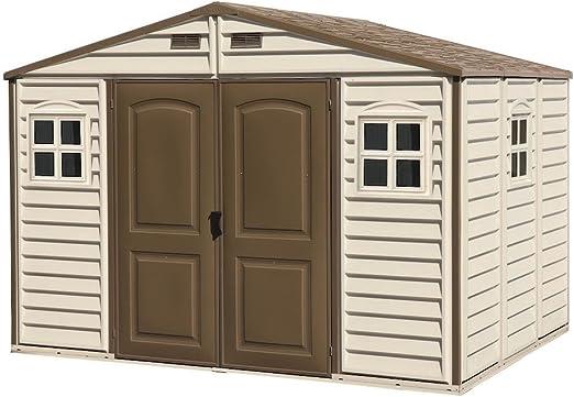Duramax Caseta de PVC Woodside 10X8, Beige/Marron, 8, 02 m² ...