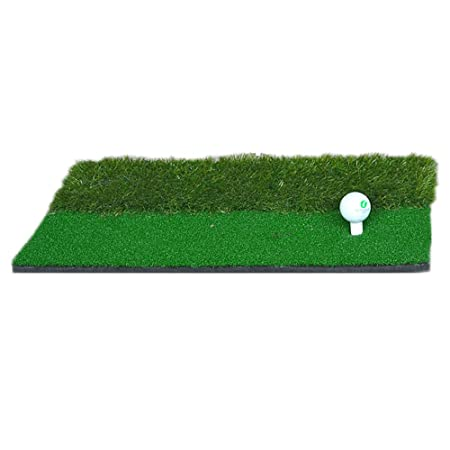 Crown-QI Golf Hitting Mat, Golf Practice Training Aid Mat, Indoor Golf Hitting Green Set, 12 x 24 inch