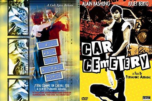 Fernando Arrabal Bundle - I Will Walk Like a Crazy Horse & Car Cemetery 2-Movie Paniic Moviement Collection