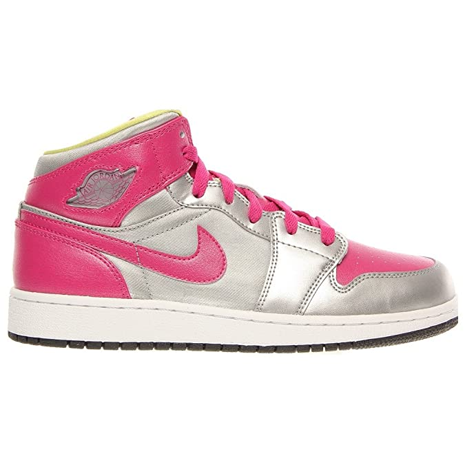 ... netherlands amazon nike girls air jordan 1 mid gs color metallic silver  555112 037 basketball 41e3a ... 420ad72c1