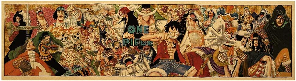 gerFogoo One Piece Poster Japanese Anime Manga Wall Art Print Decor(7019cm Multi-Style03)