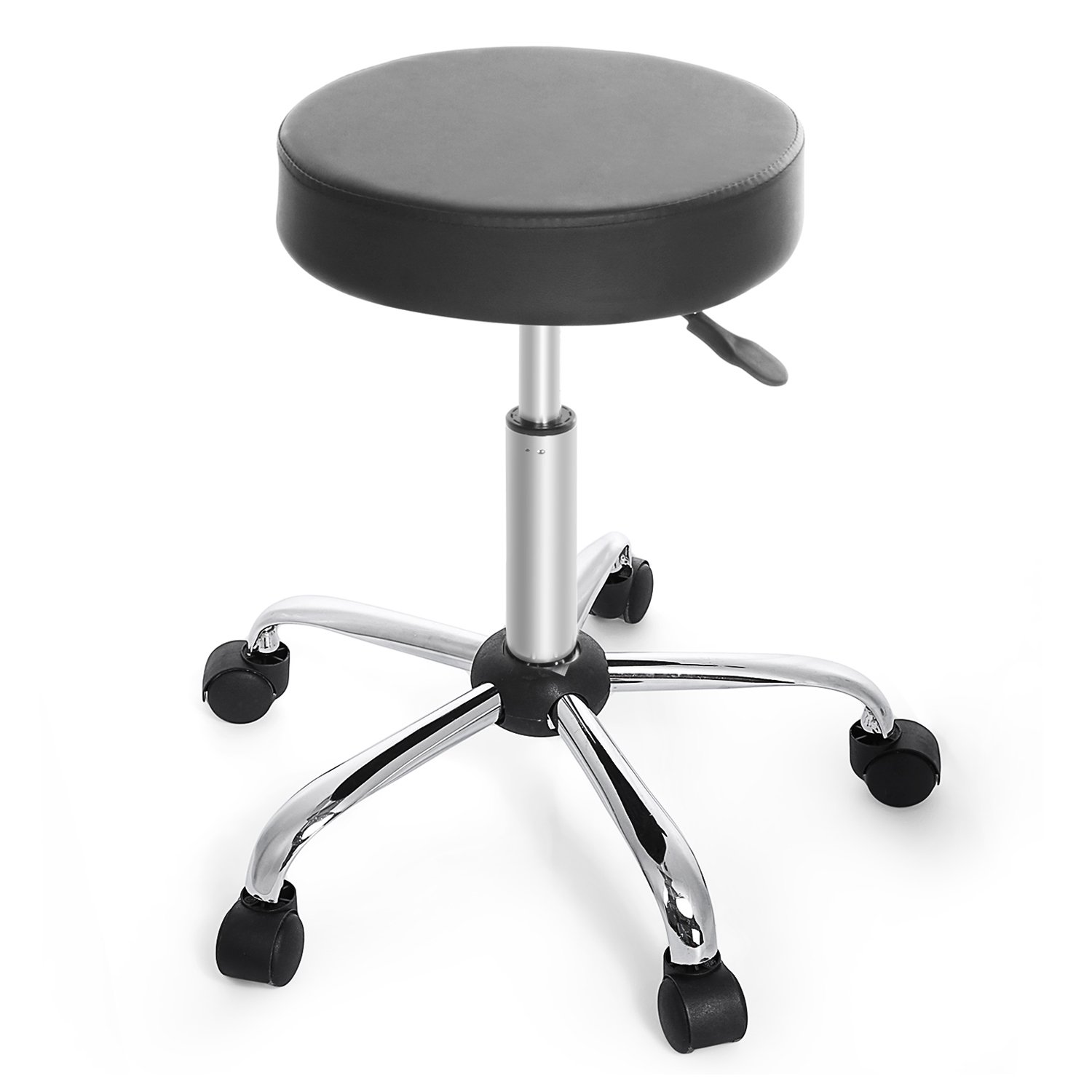 amazon com cnlinkco round height adjustable rolling swivel salon