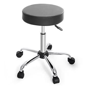 homdox swivel stool height adjustable rolling bar stool with wheels