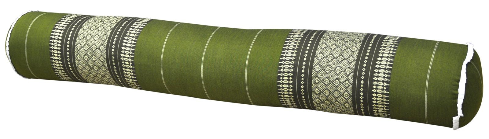 Thai cushion round bolster, pillow, sofa, imported from Thaïland, green, relaxation, beach, pool, meditation garden (81812) by Wilai GmbH