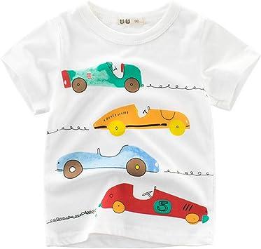 Carreras De Coches Camisetas Para Niños 100% Algodón Verano De ...