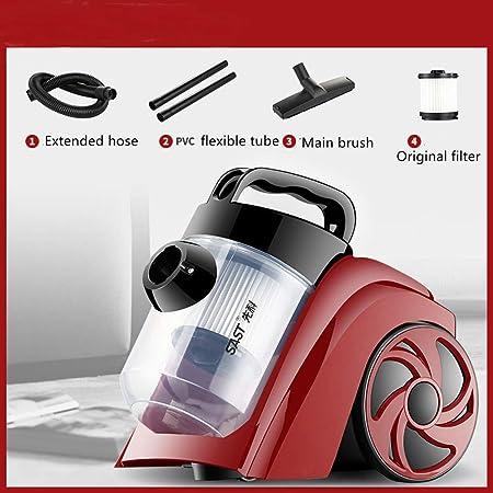 SMILE Aspiradora Potente Cilindro ciclónico Compacto sin Bolsa Aspiradora Rojo Diámetro de Funcionamiento 10 Metros,Red: Amazon.es: Hogar