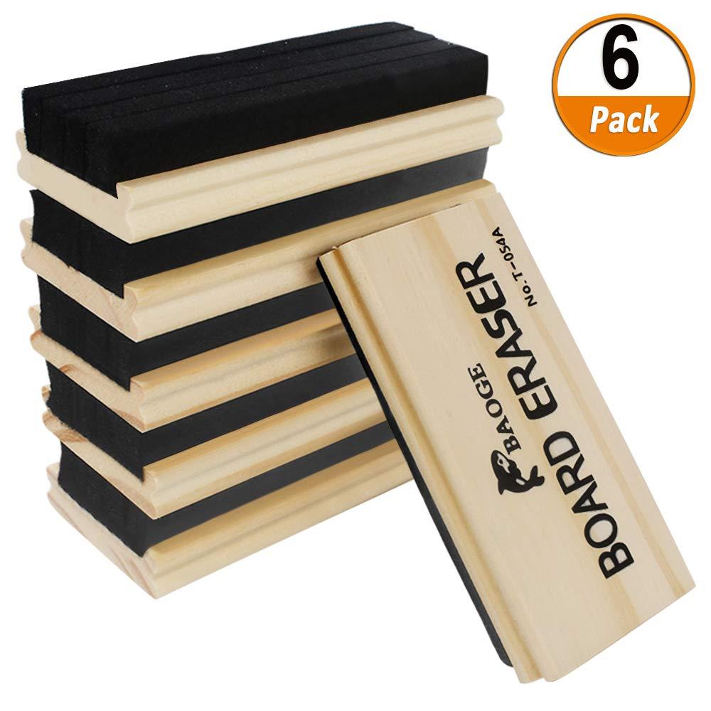 Heqishun 6 Pezzi Feltro Cancellino di Lavagna Lavagna Eraser in Legno Feltro Eraser Forniture per Ufficio Perfetto per Lavagna Bianca e Dry Erase Surfaces