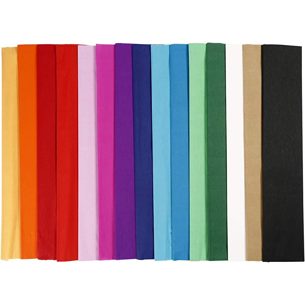 l surtido de colores 15pliegues Pliegos Papel Crep/é A: 50 cm 2,5 m