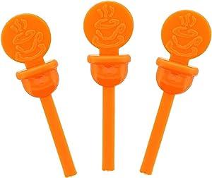 StixToGo Orange Circle Beverage Plug for Disposable Lids, Case of 2000