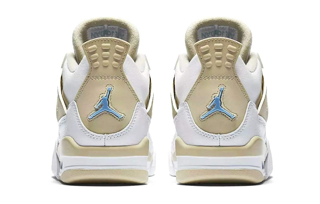Nike Air Jordan 4 Youth Retro GG White//Boarder Blue Light Sand 6Y