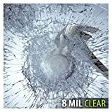BDF S8MC Window Film Security and Safety Clear 8 Mil (30in X 49ft)