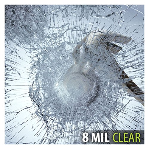 BDF S8MC Window Film Security and Safety Clear 8 Mil (12in X 14ft) (Security Tint)