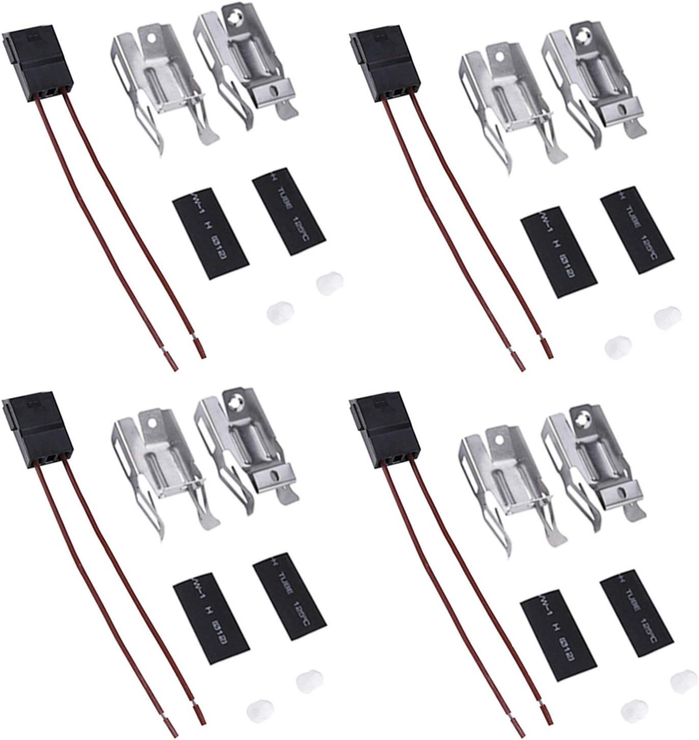 Range Surface Element Receptacle Terminal Block Kit 5303935058 RR117, Replaces 330031 WB17X210 814399 RR109 5303274292 5301167733 (4 Pack)
