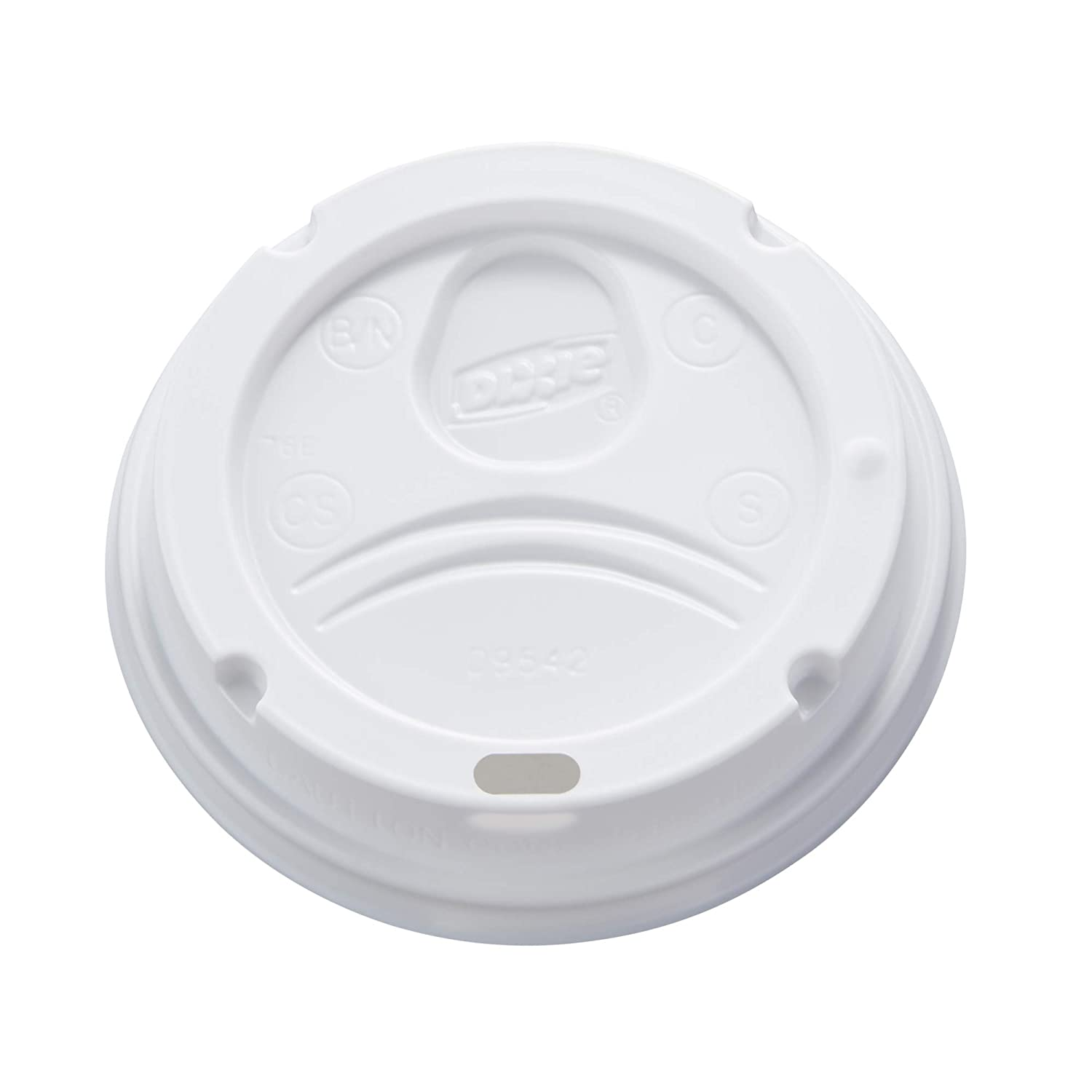 Dixie 10-20 oz. Dome Hot Coffee Cup Lid by GP PRO (Georgia-Pacific), White, 9542500DX, 500 Count (10 sleeves of 50 lids)