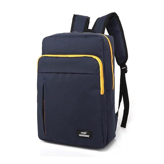 upsun (wenjie) lona mochila para portátil bolso de escuela de viaje mochila trabajo de la mochila azul talla única: Amazon.es: Electrónica