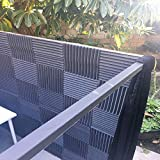 Mybecca 12 PACK Acoustic Foam Wedge Soundproofing