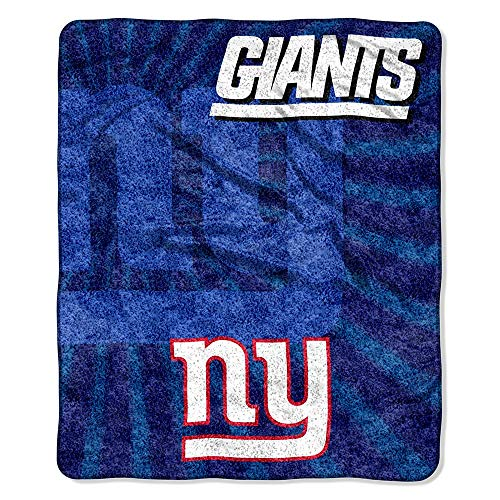 The Northwest Company Officially Licensed NFL New York Giants Strobe Sherpa on Sherpa Throw Blanket, 50
