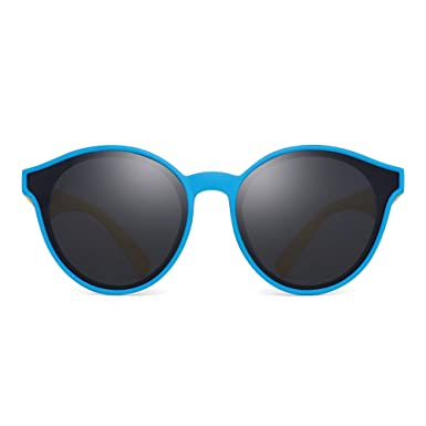 JM Niños Polarizadas Gafas de Sol Irrompible Redondas Marco ...
