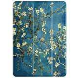 TNP iPad Air 2 / Pro 9.7 Case - Slim Lightweight Shell Smart Cover Stand, Hard Back Protection with Auto Sleep Wake for Apple iPad Air 2 / Pro 9.7 (Almond Blossom - Van Gogh)
