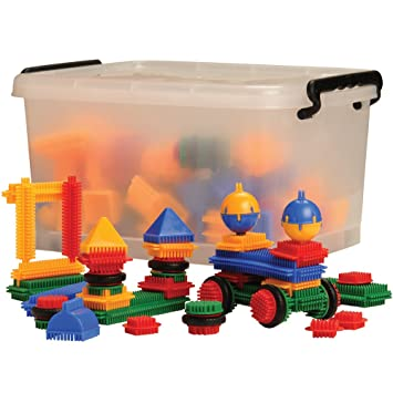 Amazon.com: CP Toys Vinyl Bristle Blocks In Storage Tub / 160 Pcs ...