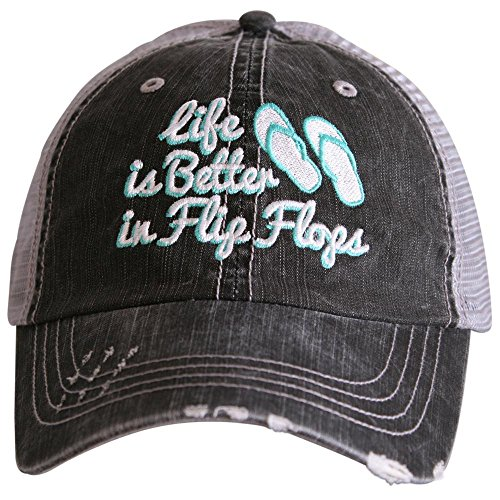 Katydid Life Is Better In Flip Flops Women's Baseball Hats ()