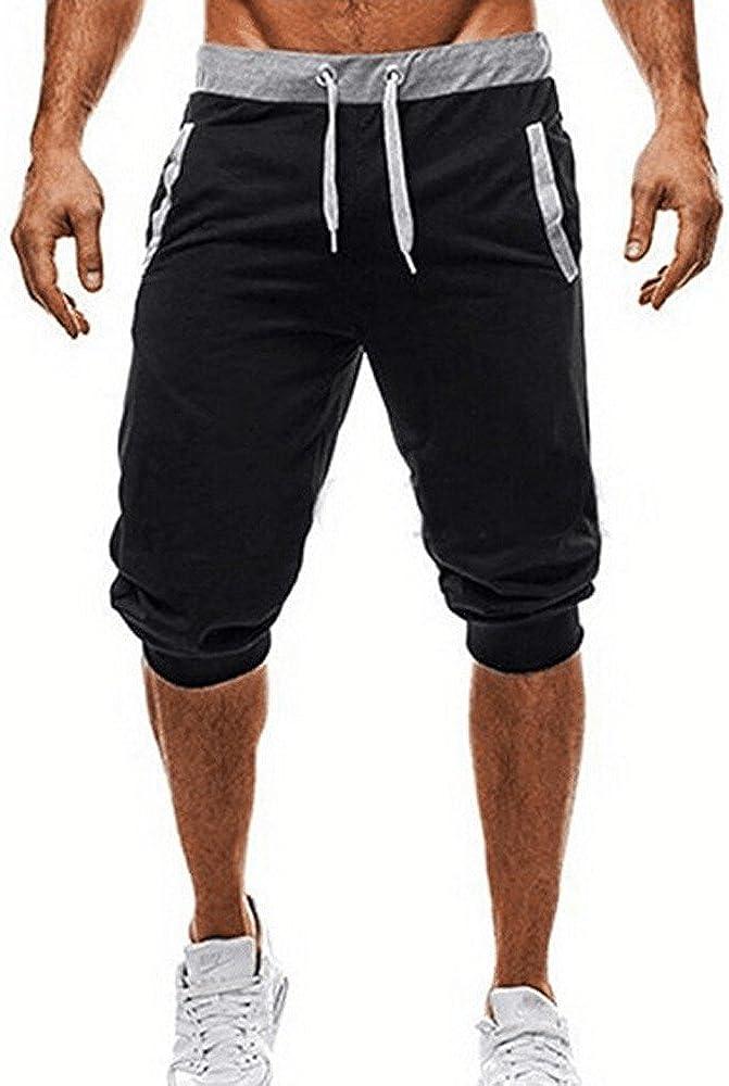 AIORNIY Herren 1//2 Grau Shorts,M/änner Slim Fit Kurze Hose,Sport Training Sporthose Trainingshose Sweathose mit Gummizug