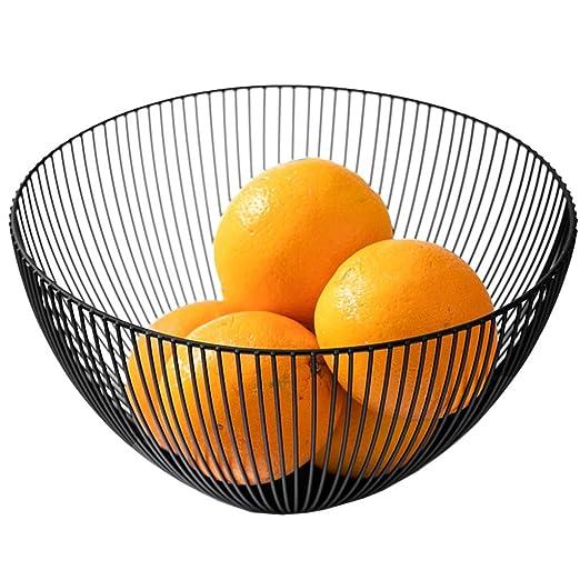 YANFUYING Frutero Canasta de Frutas Hierro Forjado Plato de Frutas Sala de Estar Merienda Canasta de Almacenamiento Mesa de Centro Plato de Frutas Redondo ...