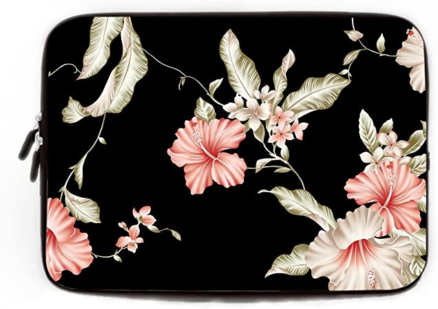 Beautiful Flowers Zipper Laptop Sleeve Bag Beautiful Flowers Carring Case Cover Protector Handbag 13 Inch for Notebook