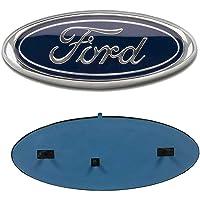 "F150 Front Grille Tailgate Emblem, Oval 9""X3.5"", Dark Blue Badge Nameplate Fits for 2004-2014 Ford F150 F250 F350 Emblem…"