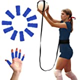 BFVV Volleyball Training Equipment Aid- Solo Practice for Serving and Arm Swings Trainer 10 Finger Protection Included Gifts
