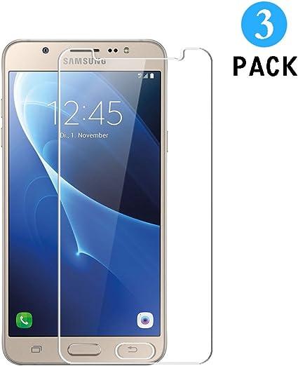 Protector de Pantalla Samsung Galaxy J7 2016, 3 Unidades WEOFUN Protector Cristal Templado para Samsung Galaxy J7 2016 Vidrio Templado [0.33mm Ultra Transparent]: Amazon.es: Electrónica
