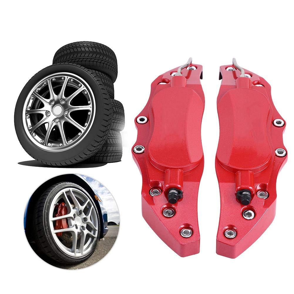 Kimiss 2PCS auto pinza freno Protector cover Endless pinza freno in alluminio per mozzo ruota 16/in-17in Medium