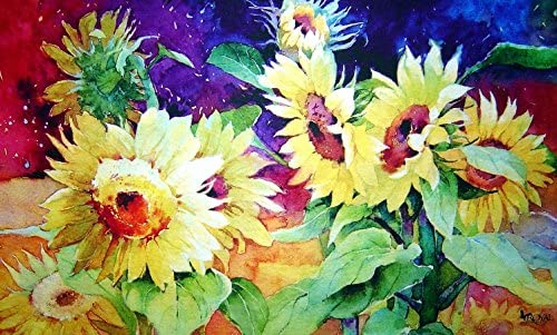 Custom Printed Rugs Summer Sunflower Doormat
