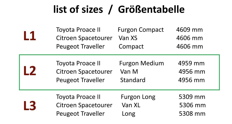 adatto per Citroen Spacetourer 9 posti dal 2016 in poi Set di tappetini in gomma e vasca per bagagliaio