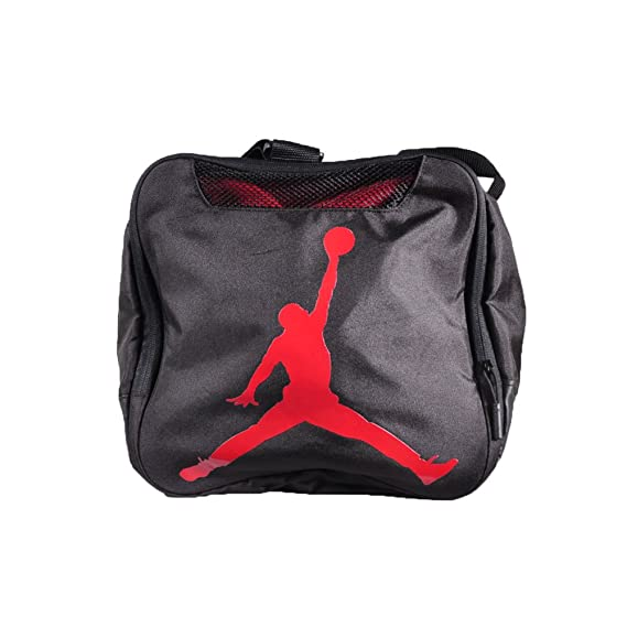 30e498e5bde55f Amazon.com  Nike Air Jordan Jumpman Trainer Duffel GYM Bag (Black Gym Red)   Sports   Outdoors