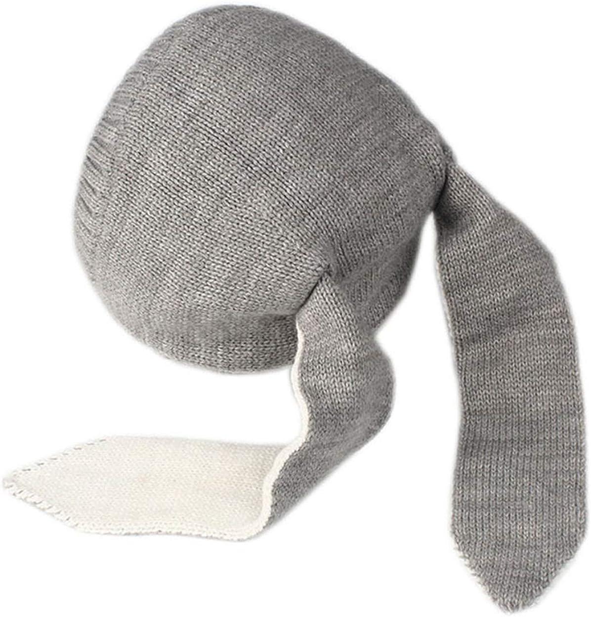 Sombreros Unisex para Beb/és Orejas de Conejo Gris iwobi Sombrero Tejido de Punto de Beb/é Sombrero Liso de Invierno para 0-24 Meses Ni/ña Ni/ño