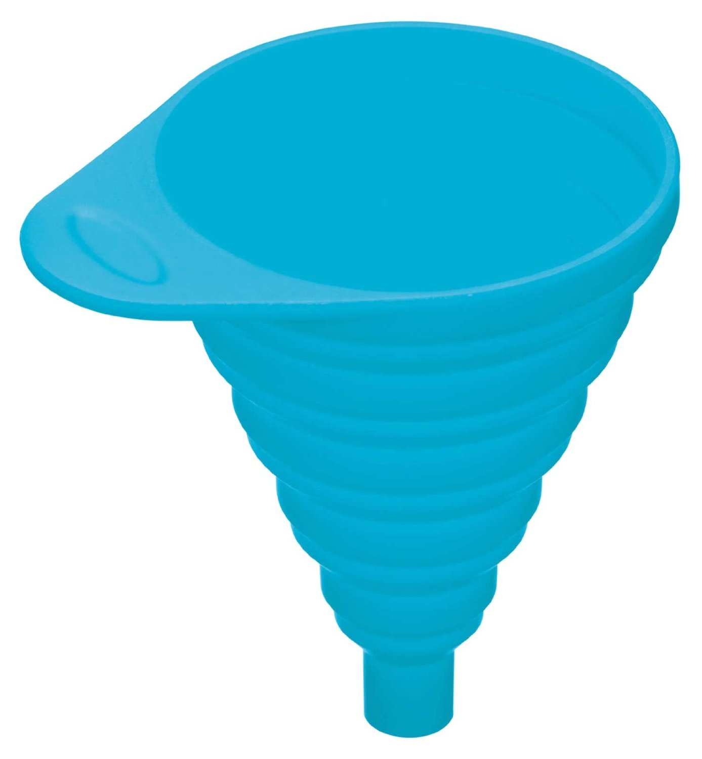 Hosaire Silicone Collapsible Funnel Foldable Funnel Heat Resistant Hopper Filter Funnel Blue