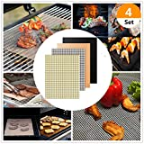 Best Grill Mat With None Sticks - (Set of 4) 4 Style Non-stick BBQ Grill Review